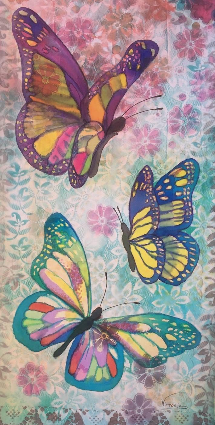 Panuelo Mariposas de California