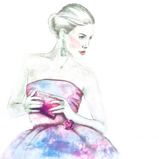 Victoria Pardo Lujo en Seda ofrece a los Diseñadores de Vestidos de Fiesta e Invitada sus Pañuelos, Foulards y Abanicos pintados a mano, complementos exquisitos para un proyecto de diseño